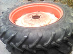 Part No. 4010 David Brown 1390/990/995/996 36 inch rear wheels, tread 90% walls cracked good set clean wheels £450 + VAT & Carriage