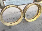 "Part No. 5579 John Deere A/Farmall M 38"" rims £350 + VAT & Carriage"