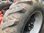 "Part No. 5508 David Brown 1490/1494 34""rear wheels and tyres tyres 10% tread £400 + VAT & Carriage"